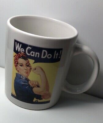 ROSIE THE RIVETER Coffee MUG WE CAN DO IT AMERICAN ICON World War 2 WWII WOMEN