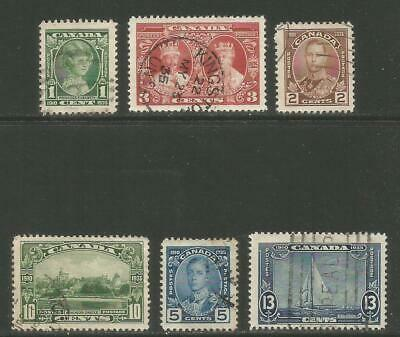 Canada 1935 King George V 25th Anniversary--Attractive Topical 211-16) fine used