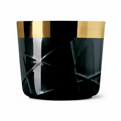 "Sieger by Fürstenberg ""Sip of Gold"" Becher, Woven black"