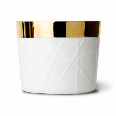 "Sieger by Fürstenberg ""Sip of Gold"" Becher, Woven white"