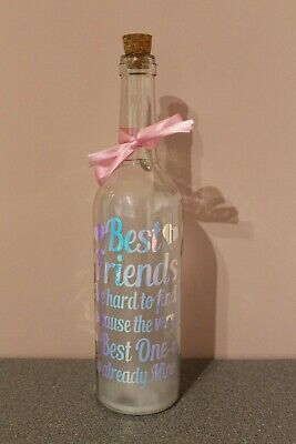 Best Friends are hard to find Bottle Gift - Iridescent vinyl/Multi coloured
