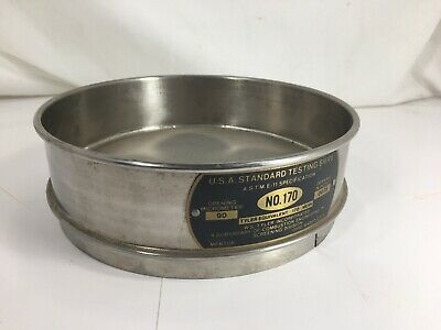 """Stainless Steel Fisher Scientific No. 170 Usa Standard Testing Sieve 8"""" - Used"""