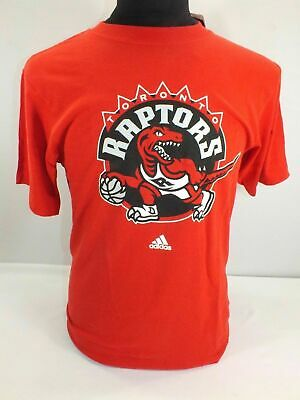 Toronto Raptors Nba Men's Red Short Sleeve T-Shirt Size 2Xl By Adidas