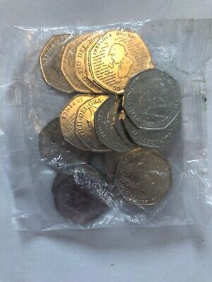 Sherlock Holmes Full Sealed bag Uncirculated 50p Coins