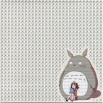 TOTORO BLOTTER ART perforated sheet paper psychedelic art