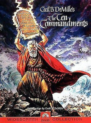 The Ten Commandments (DVD 2-Disc Set) Used Like New, Free Shipping.
