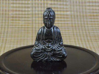 decorate Old green Jade/Jadeite Carved Of China Buddha Statue Pendant Art
