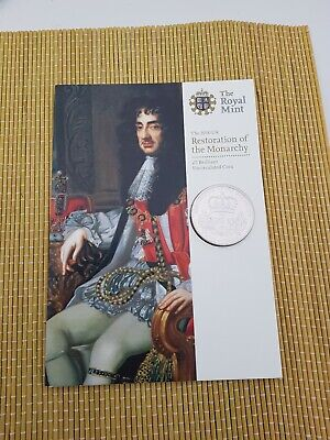 Uncirculated 2010 UK £5 Restoration of the Monarchy in Royal Mint pack
