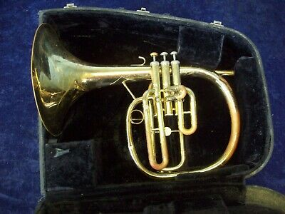 Another Solid! Holton M601 Mellophonium Elkhorn Wisconsin Usa + Case