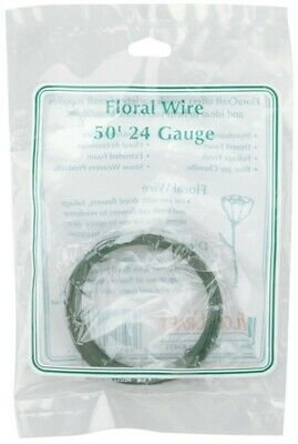 Floracraft S9660 Coiled Floral Wire 24 Gauge 50'-Green (4Pk)