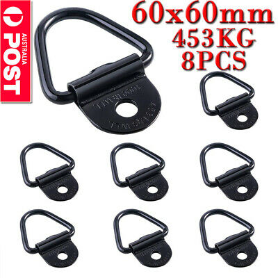 8X LASHING RING ZINC PLATED TIE DOWN POINTS ANCHOR UTE TRAILER 60x60MM OZ
