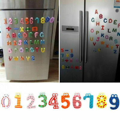 Wood Cute Fridge Magnet Alphabet Animal Number Early Educational Kids Baby A4B4