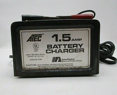 Atec 1.5 Amp Battery Charger Trickle Maintenance Charge 12 Volt