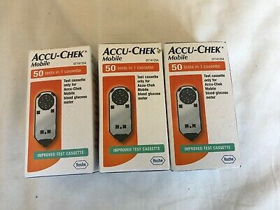 Accu-chek Mobile Test Cassette 3 Boxes 150 Tests
