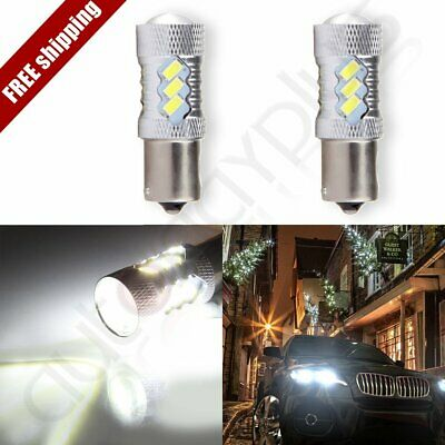 2x 1156 BA15S Cree LED 15 SMD 6000K Turn Signal HID Ultra Light 60W 6000LM