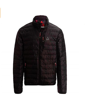 bdc638e55 GERRY SOLID BLACK Down Filled Puffer Jacket Coat Packable Into Neck ...