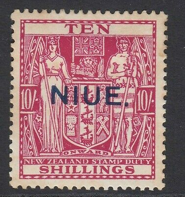 NIUE Cook Islands Stamps SG53 - 10/ carmine lake - mounted mint
