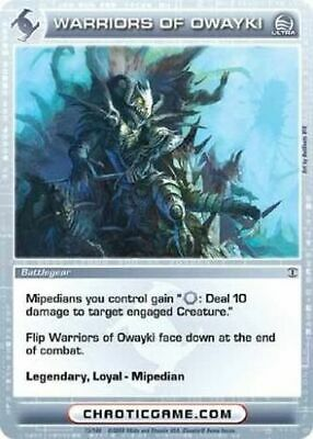 CHAOTIC CARD ULTRA RARE Hornsabre MINT CONDITION - $29 99