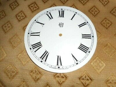 "For American Clocks-Waterbury Paper Clock Dial- 5"" M/T- GLOSS WHITE-Parts/Spares"