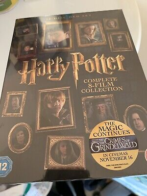 Harry Potter Complete 8-Film Collection 2016 (16-Disc Dvd Set) Sealed Free P&P