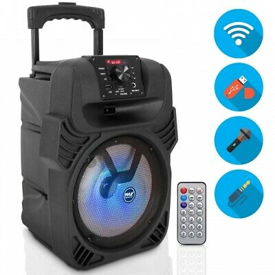 Pyle PPHP844B Bluetooth Portable PA Speaker, Built-in Rechargeable Battery, 400W
