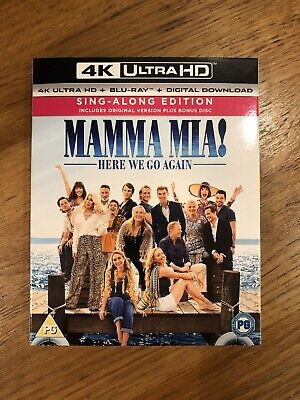 Mamma Mia! Here We Go Again 3 Blurrays 4k UHD Sing Along Edition Factory Sealed