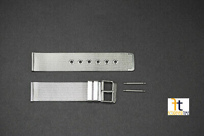 18mm fits Mondaine Stainless Steel Mesh Watch Band Strap  w/SPRING BARS INCLUDED