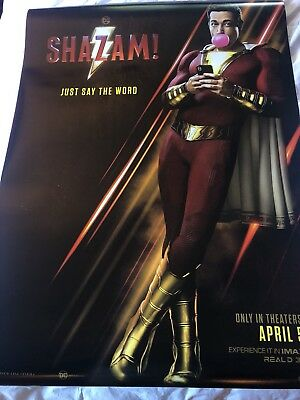 SHAZAM! Theatrical Poster DS 27x40 near mint Brand New Never Used.