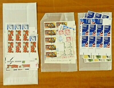 US Unused Postage Stamp Lot 2c 5c 8c 10c 22c 25c 35c Face Value $45