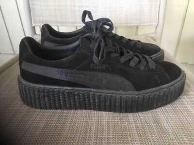 cheap for discount c6f64 bc46a WOMEN PUMA SUEDE Creepers Fenty By Rihanna Black Star White ...