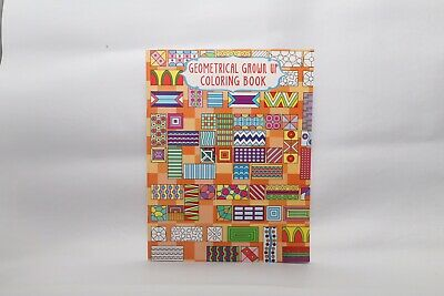 New - Adult Geometrical Colouring Book - Design 3 - 24 Pages