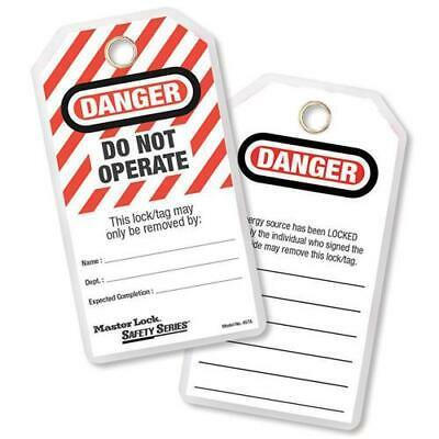 MasterLock 497A DO NOT OPERATE Lockout Tagout Tags (PACK 12) | AUTHORISED DEALER