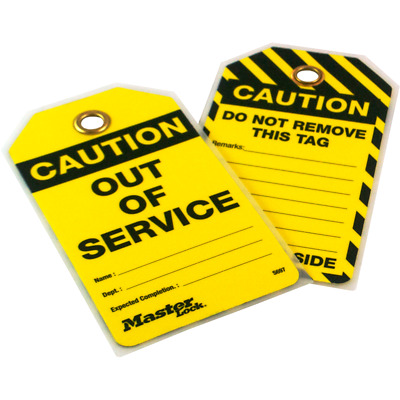 MasterLock S697 OUT OF SERVICE Lockout Tagout Tags (PACK 12) | AUTHORISED DEALER