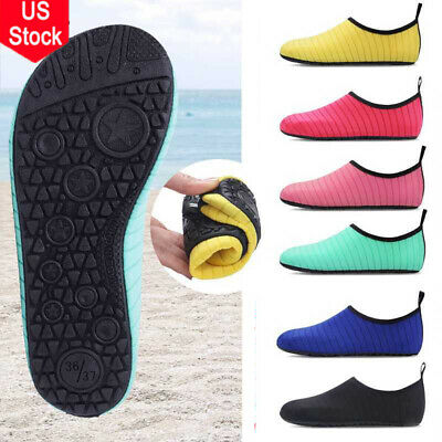 US Men Women Barefoot Skin Water Shoes Beach Socks Swim Yoga Sport Pool On Surf