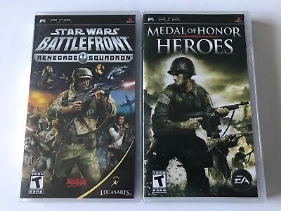 Sony PSP Games Star Wars: Battlefront Renegade Squadron Medal of Honor: Heroes