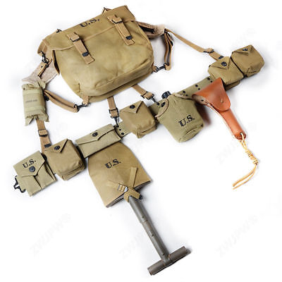 Repro WWII WW2 US Army M1 Paratrooper  Combination Set Equipment Canvas