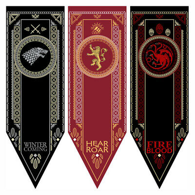 Game of Thrones House Sigil Stark Tournament Banner Flag Poster Wall Decor Decal