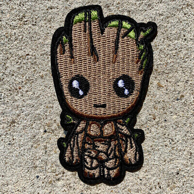 1pc Baby Groot Embroidered Patch Guardians Galaxy Iron On Applique sewing #1451