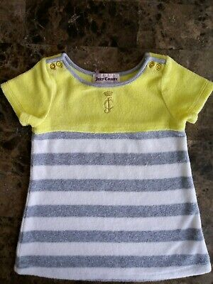 Juicy Couture Terry Cloth Baby Girl Shirt Size 12/18 Months