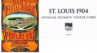 OFFICIAL AOC OLYMPIC POSTER CARD - ST. LOUIS 1904 (sealed in envelope)