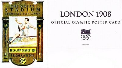 OFFICIAL AOC OLYMPIC POSTER CARD - LONDON 1908 (unsealed in envelope)