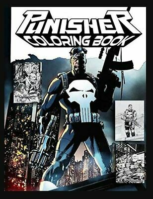 Punisher Coloring Book (Paperback – 2019) r