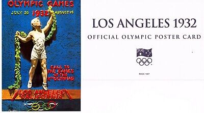 OFFICIAL AOC OLYMPIC POSTER CARD - LOS ANGELES 1932 (sealed in envelope)
