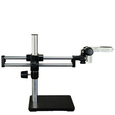 Ball-Bearing Dual-arm Boom Stand for Stereo Microscopes With Focusing Rack