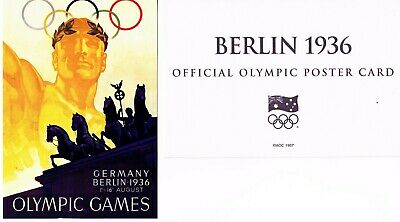 OFFICIAL AOC OLYMPIC POSTER CARD - BERLIN 1936 (sealed in envelope)