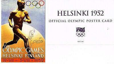 OFFICIAL AOC OLYMPIC POSTER CARD - HELSINKI 1952 (sealed in envelope)