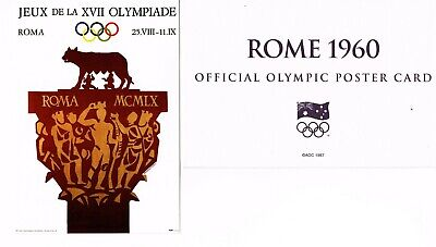 OFFICIAL AOC OLYMPIC POSTER CARD - ROME 1960 (sealed in envelope)