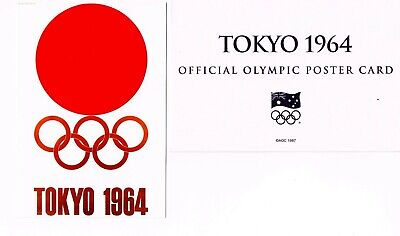 OFFICIAL AOC OLYMPIC POSTER CARD - TOKYO 1964 (sealed in envelope)