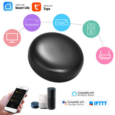 Tuya APP WIFI To Infrared Remote Smart Life Voice Control AC TV for Alexa Google