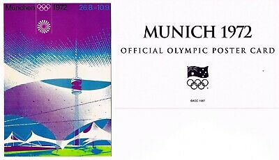 OFFICIAL AOC OLYMPIC POSTER CARD - MUNICH 1972 (sealed in envelope)